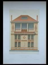 PARIS, AVENUE DUQUESNE, MAISON DE PEINTRE -1881- GRANDE LITHOGRAPHIE- GUADET