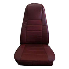 TRUCK Seat Cover w/Pocket - Burgundy Faux Leather Peterbilt Freightliner