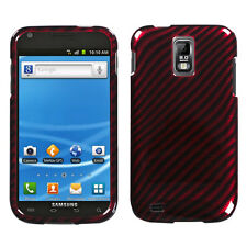 T-MOBILE SAMSUNG GALAXY S II 2 T989 GRAPHIC HARD SHELL CASE RACE FIBER RED