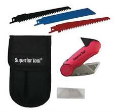NEW Superior Tool 37519 Plumbers Knife Kit, Stainless Steel REAMER BLADE