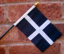 CORNWALL flag PACK OF TEN SMALL HAND WAVING FLAGS CORNISH Truro Penzance St Ives