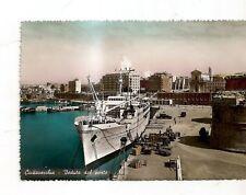 bella cartolina di civitavecchia il porto e grossa nave