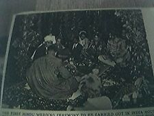 magazine picture 1956 first hindu wedding at india house aldwych london