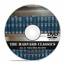 The Harvard Classics, All 51 Volumes, in PDF + DVJU, Vintage Novels on DVD V42