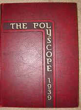 Bradley Polytechnic Institute1939 Polyscope Yearbook Peoria Illinois HB B&W