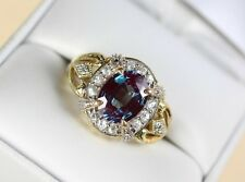 10k Gold Mystic Topaz & Cz Accent Ring size 8