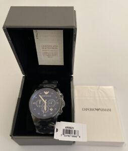 Emporio Armani AR5921 Herren Armbanduhr Chronograph Edelstahl  Neu und Ovp