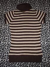 Precioso jersey a rayas en tonos marrones de Lefties. Talla S