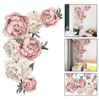 Peony Flower Wall Stickers Floral Art Decals Home Room Decor DIY Removable Acces