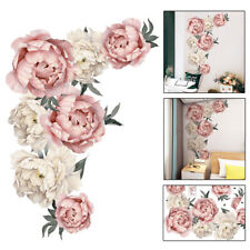 Large Peony Flowers Wall Sticker Floral Art Nursery Decals Home Kid Room Decor