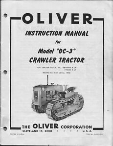 Oliver OC-3 Cletrac Crawler Service & Operators Manual PDF CD disc