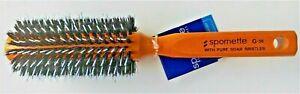 SPORNETTE Round Porcupine Boar Nylon Bristle Hair Brush (G-36)  -- FREE SHIPPING