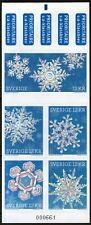 """SUEDE:  Carnet n°C.2768 **, """"cristaux de neige""""  (cote 22,50€)"""