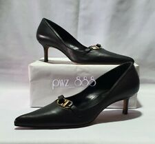 CHRISTIAN DIOR CD Black Heels Shoes Size 37