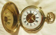 POCKET WATCH ARNEX 17 JEWELS *SWISS MADE* INCABLOC GOLD TONED ALARM A+CONDITION*