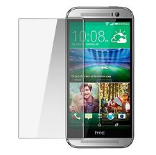 TEMPERED GLASS SCREEN PROTECTOR ANTI SCRATCH FILM For HTC ONE M8 UK FREEDISPATCH