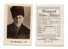 John Barrymore 1932 Monopol Film Star Cigarette Card #62