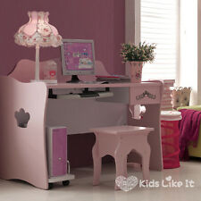 MIA Girls Pink Wooden 1200MM PRINCESS STUDY Computer STUDENT DESK w/ DRAWER NEW