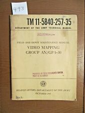 """1961 Army Technical manual.""""Video Mapping"""""""