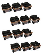 (4) Snow Plow ROL-A-BLADES Casters Dollies (Set of 12) for Buyers SAM 1310410
