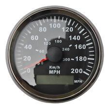 GPS 300KM/H Speedometer Gauge Black Background Black Bezel Red LED Backlight