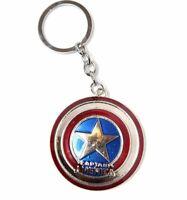 OFFICIAL LICENSED Captain America Shield Marvel Comics Steel Keyring New