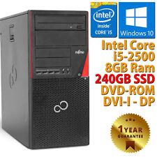 PC COMPUTER DESKTOP RICONDIZIONATO FUJITSU P700 CORE i5-2500 RAM 8GB SSD 240GB