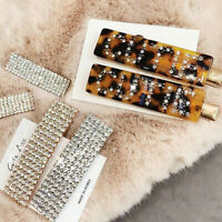 Vintage Women Crystal Leopard Hair Clips Barrette Stick Hairpin Hair Accessories