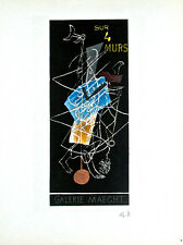 Georges Braque Sur 4 Murs Galerie Maeght Original Lithograph Initialed