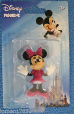 "DISNEY FIGURINE MINNIE MOUSE MICKEY CLUBHOUSE 2"" DISPLAY COLLECTIBLE CAKE TOPPER"