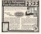 1913 RHINELANDER X-Y-NO Stone-lined Refrigerator Vintage Print Ad