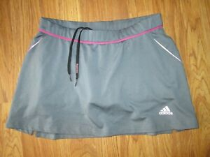 Womens ADIDAS athletic skort skirt built n spandex shorts S Sm running tennis