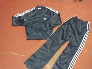 Vintage Adidas ATP Keyrolan Tracksuit Jacket Pants Set Navy Trefoil