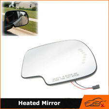 Mirror Glass Heated Turn Signal Passenger Side Rh For 03-07 Gmc Cadillac Chevy (Fits: Cadillac)