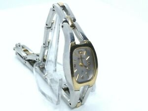Fossil F2 Womans Watch ES1001 Silver Gold All Stainless Steel 30m New Battery