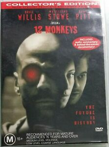 12 Monkeys (1995) DVD Collector's Edition Special Features Rel. 2001 R4 PAL VGC
