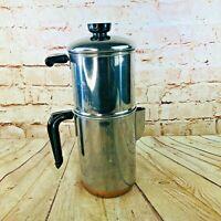 vtg Revere Ware 8 Cup Drip-O-Later 1801 Percolator Coffee pot COpper Bottom
