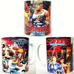 Streets Of Rage Sega Mega Drive 1 2 3 - Coffee MUGS CUPS - SET OF 3 - Trilogy