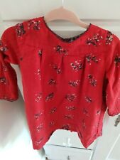 Petit Bateau Baby Girl Red Dress Size 18 Months