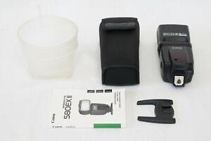 Canon Speedlite 580EX II Flash EX+ EOS DIGITAL Camera 580 EX 2 5D 7D + Bonus