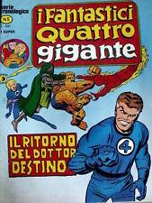 Fantastici Quattro Gigante n°5 1978 ed. Corno [G.215]