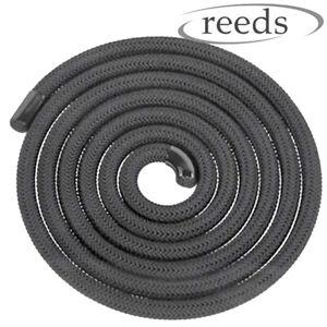 Black Heat Resistant Stove Rope For Woodburner Doors Flue Seals Reeds 6,8,10,12