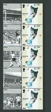 GREAT BRITAIN 2006 WORLD CUP IN GERMANY STRIP OF 5 UNMOUNTED MINT  CARTOR PRINT