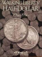 1916-1947 WALKING LIBERTY HALF (2-COIN FOLDER SET)  H. E. HARRIS / WHITMAN -NEW