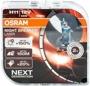 H11 Birnen Lampen Osram Scheinwerfer Halogen Night Breaker Laser Duo Leuchte  AE