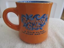 "1999 Rain Forest Cafe ""Wild Place To Shop And Eat"" Orange Blue Coffee Mug Cup!"