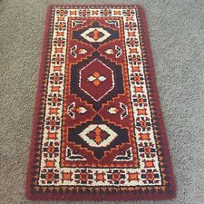 "100% Wool Hand-Knotted Oriental Area Rug Carpet Hook 51"" x 27"" Kilim"