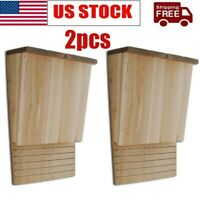 2pcs Bat House Wooden Single Chamber Handcrafted Nest Mosquito Control Solid US