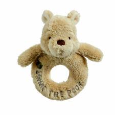 Disney Classic Winnie The Pooh Plush Ring Rattle 100 Acre Wood