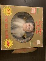 Vintage Rotating Lite Santa Tree Topper Plaque - Amico - Works